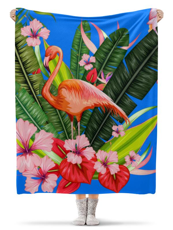 Плед флисовый 130х170 см Printio Фламинго сумка printio pink фламинго
