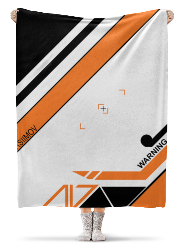 Плед флисовый 130х170 см Printio Asiimov майка борцовка print bar cs go asiimov black