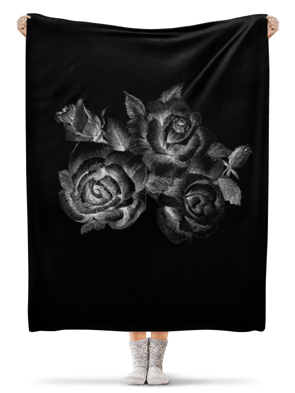 Printio Розы, нарисованные мелом на черном фоне printio розы на голубом фоне