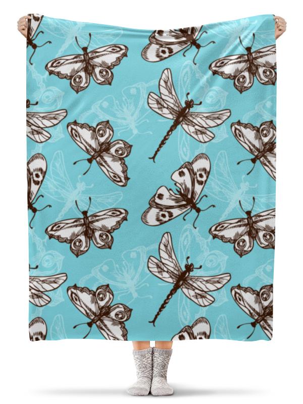 Фото - Printio Бабочки и стрекозы плед флисовый 130х170 см printio котики и бабочки
