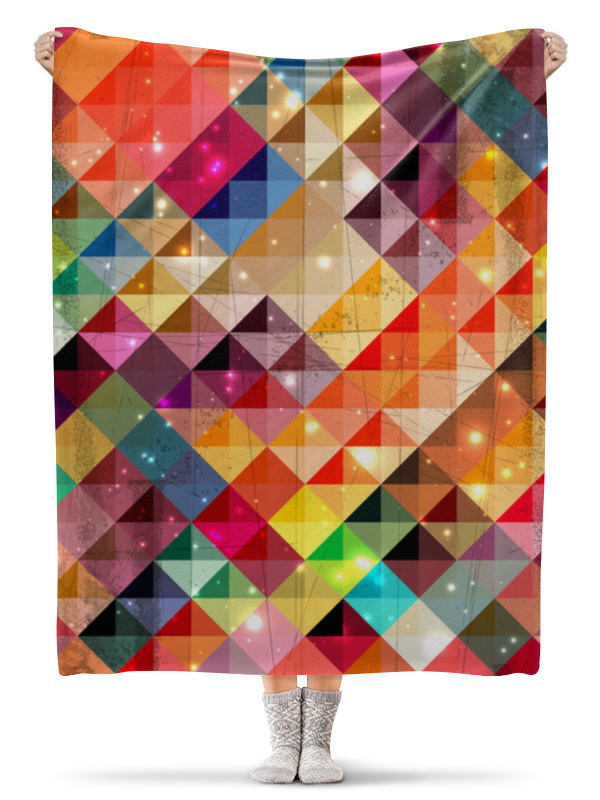 Плед флисовый 130х170 см Printio Разноцветные треугольники плед флисовый 130х170 см printio разноцветные перья