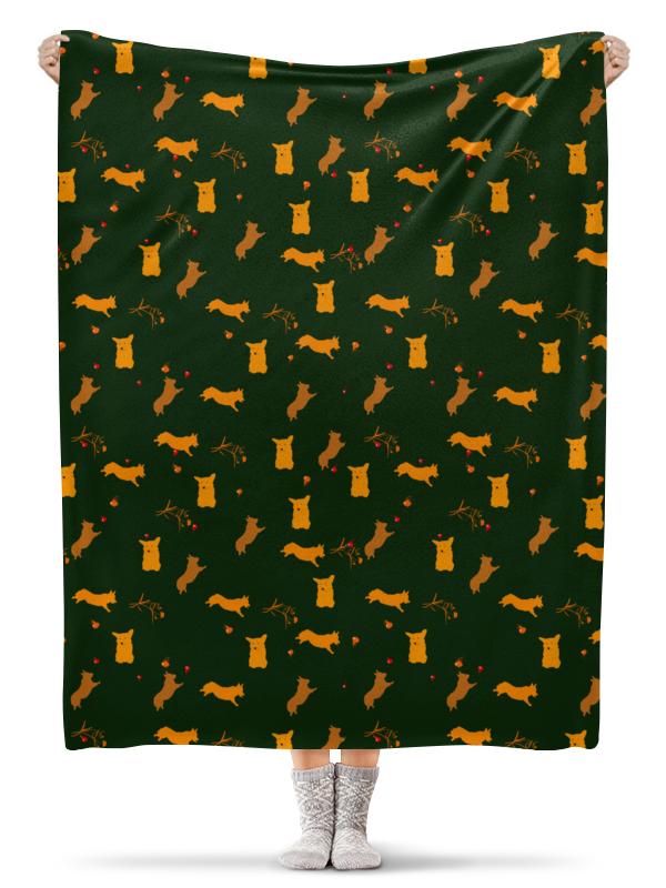 Плед флисовый 130х170 см Printio Золотой корж