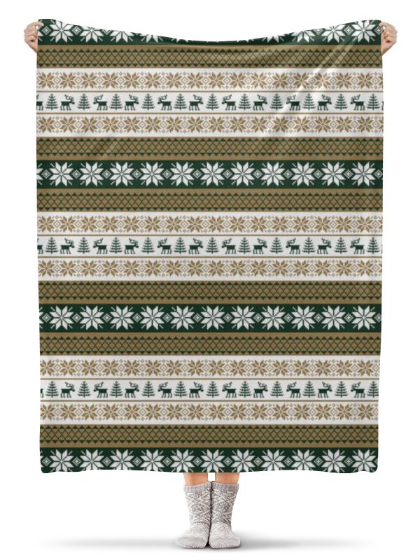 Плед флисовый 130х170 см Printio Скандинавский узор плед sleepy year с рукавами норвежский узор