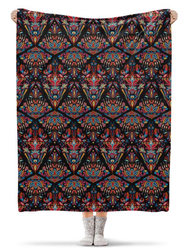 Плед флисовый 130х170 см Printio Красивый орнамент с птицами. дизайн с перьями плакат a3 29 7x42 printio яркий красивый модный гелакси дизайн паттерн