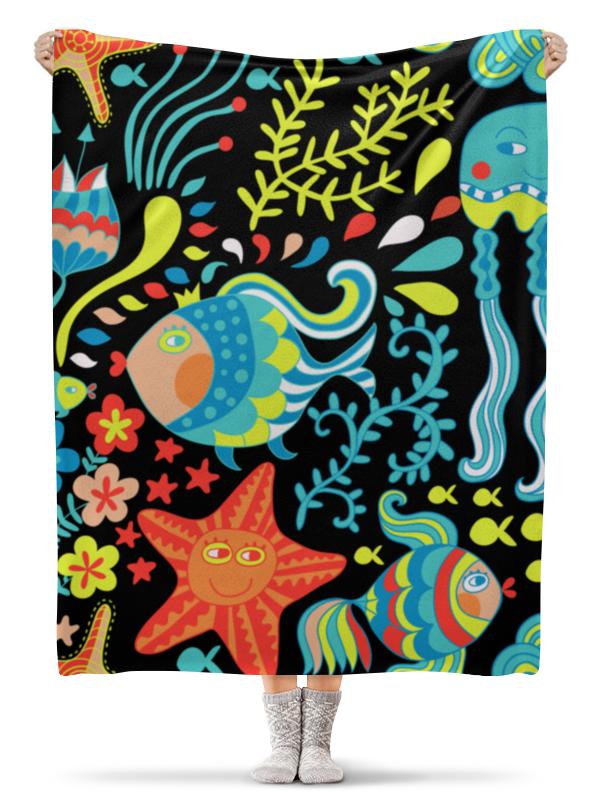 Плед флисовый 130х170 см Printio Обитатели моря плед флисовый 130х170 см printio морские обитатели