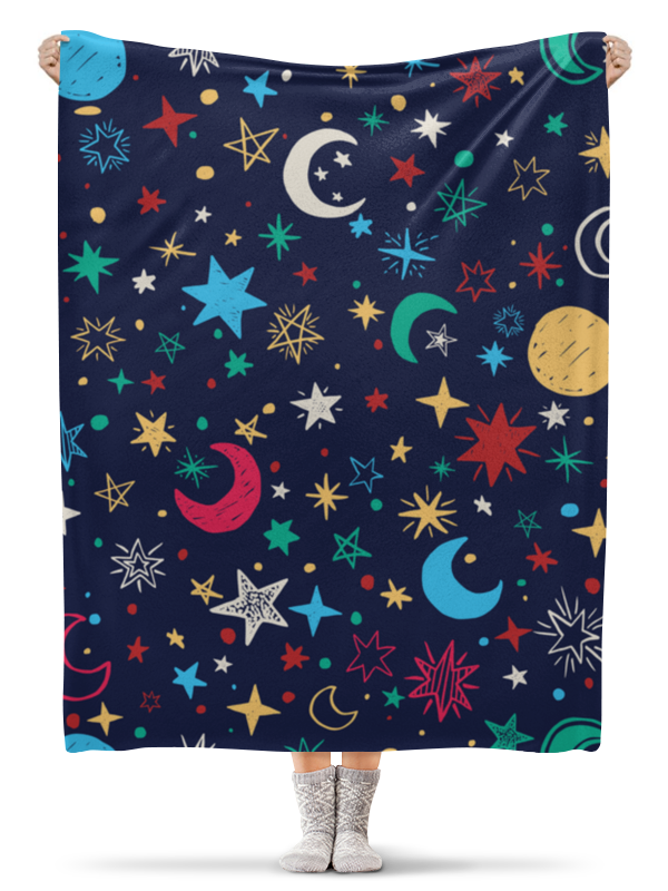Плед флисовый 130х170 см Printio Звёздное небо