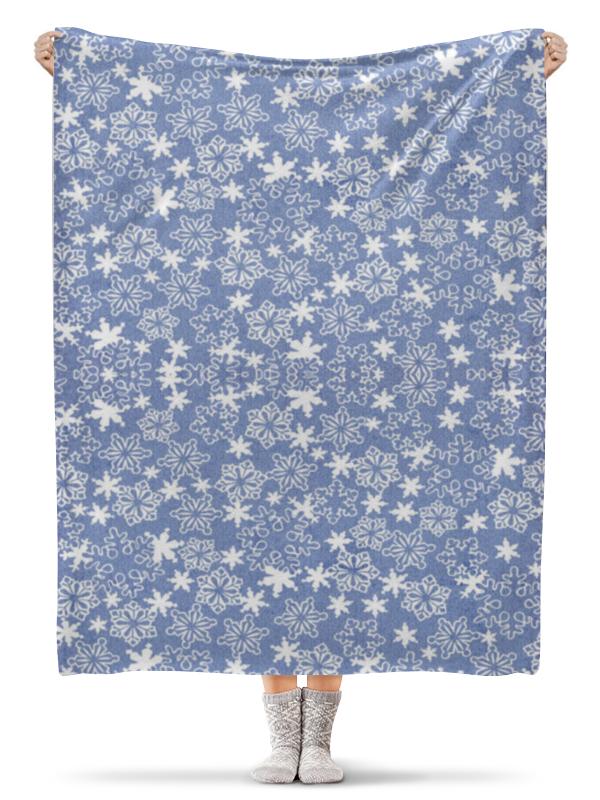 Плед флисовый 130х170 см Printio Снежинки плед hongda уют 2x2 2m white 877312