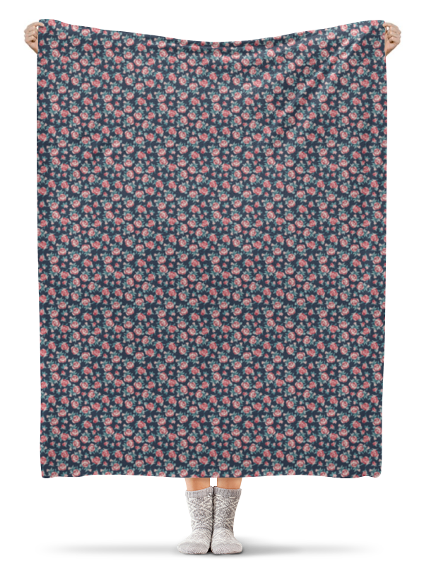 Плед флисовый 130х170 см Printio Цветы плед флисовый 130х170 см printio плед красные цветы