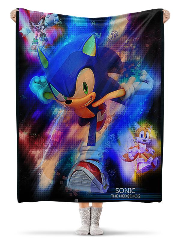 Плед флисовый 130х170 см Printio Соник/sonic набор игрушек фигурок sonic соник модерн пэк