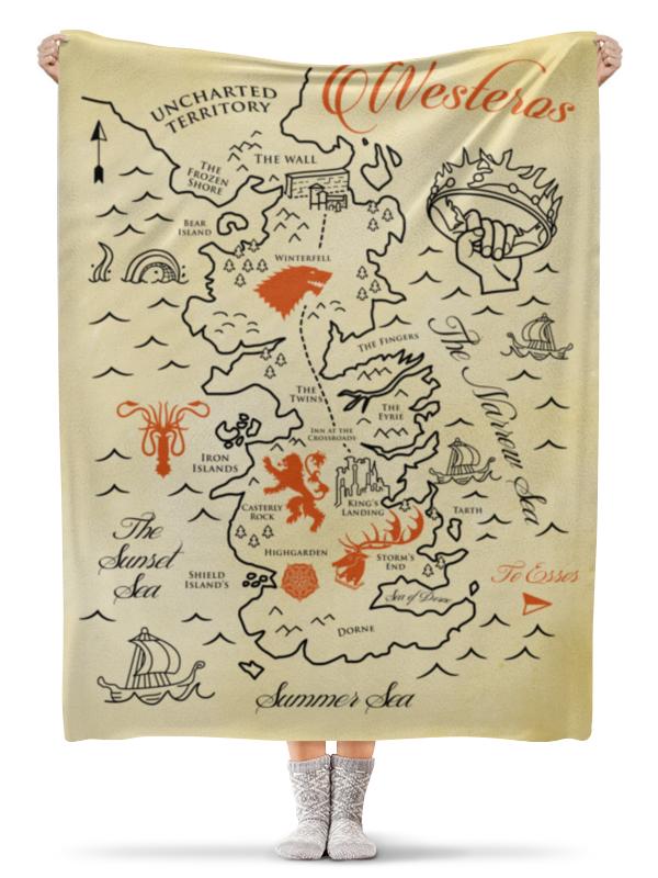 Плед флисовый 130х170 см Printio Карта вестероса. игра престолов тим дедопулос игра престолов головоломки мира льда и пламени