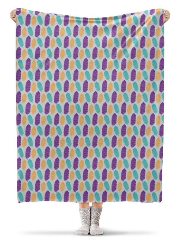 Плед флисовый 130х170 см Printio Разноцветные перья
