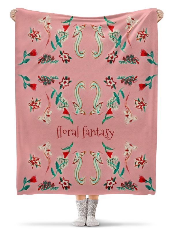 Плед флисовый 130х170 см Printio Цветочная сказка юбка карандаш printio цветочная сказка