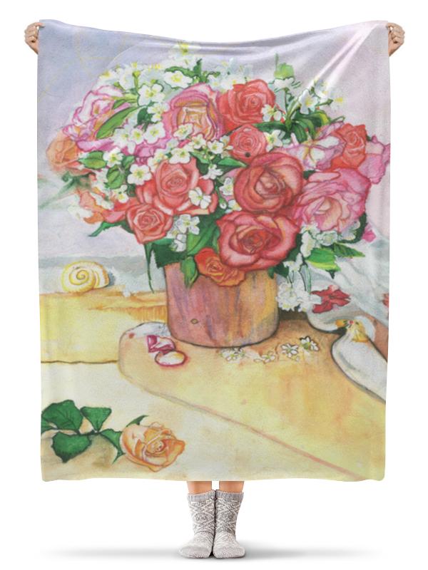 Плед флисовый 130х170 см Printio букет роз букет роз в кашпо primanova 17 5 17 17 см