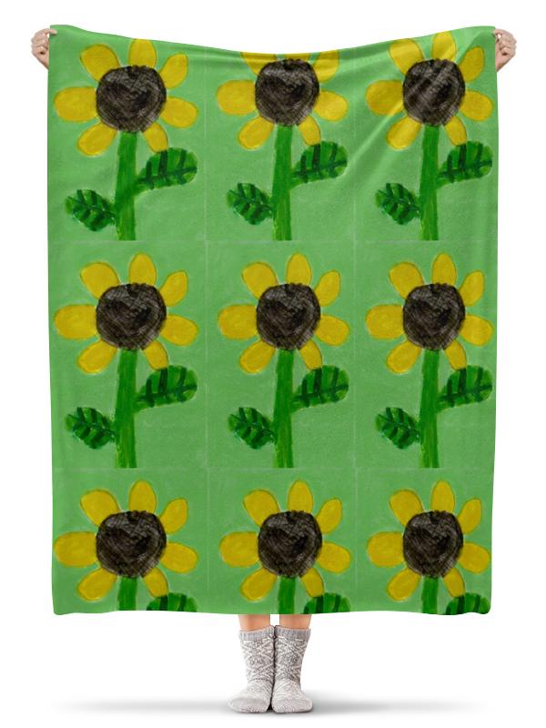 Плед флисовый 130х170 см Printio Подсолнух детская футболка классическая унисекс printio супер звезда супер сайян
