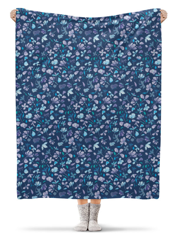 Плед флисовый 130х170 см Printio Зимние цветы чехол для ноутбука 14 printio цветы акварель