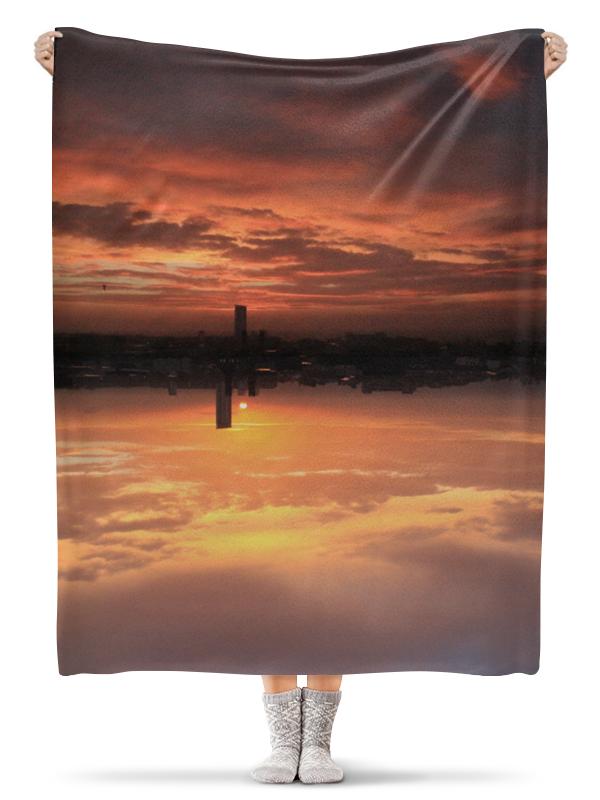Плед флисовый 130х170 см Printio Солнце заходит, уэльс