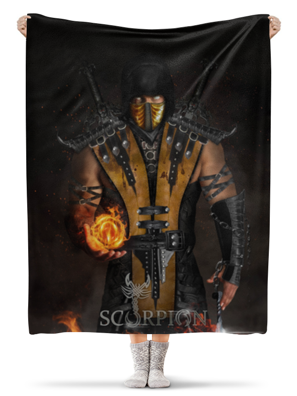 Плед флисовый 130х170 см Printio Mortal kombat (scorpion) 50pcs lot wire hanger fastener hanging photo picture frame quick easy clutch release nickel plate movable head ceiling