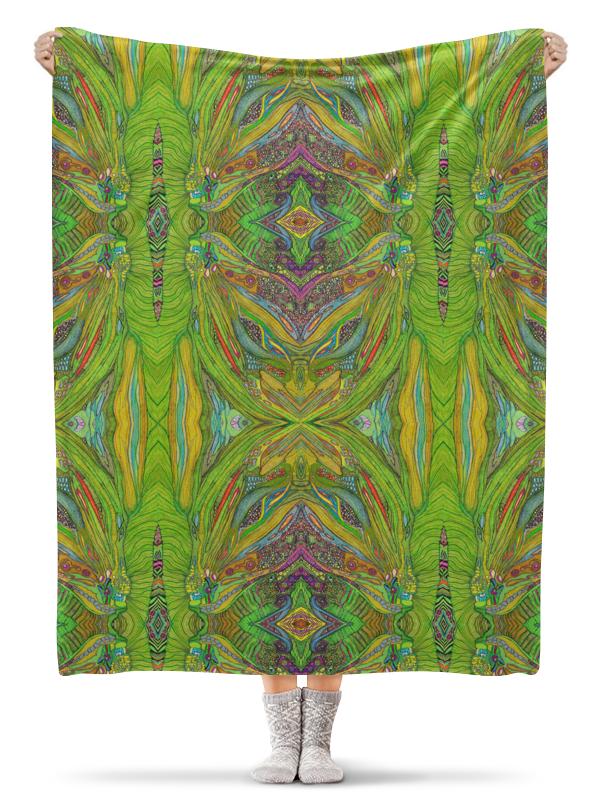 Плед флисовый 130х170 см Printio Ом дракон узоры 002