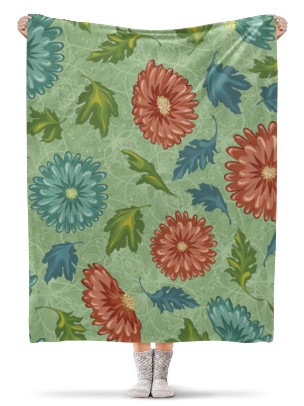 Плед флисовый 130х170 см Printio Цветочный плед флисовый 130х170 см printio осенние листья