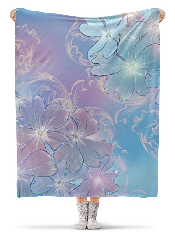 Плед флисовый 130х170 см Printio Нежные цветы плед флисовый 130х170 см printio садовые цветы