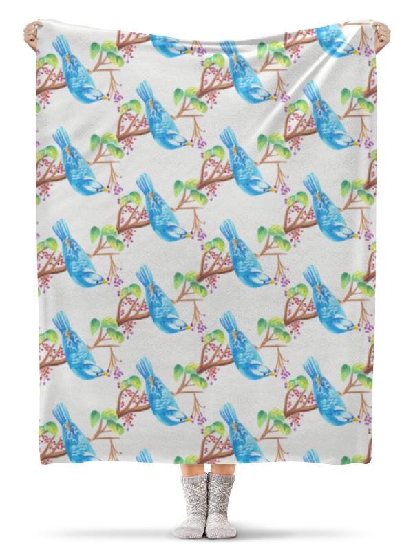 Плед флисовый 130х170 см Printio Птички