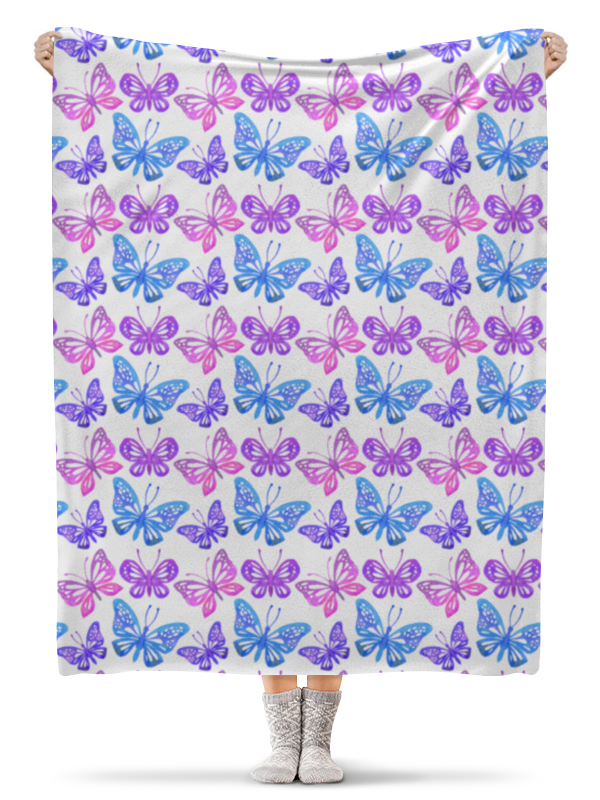 Фото - Printio Бабочки плед флисовый 130х170 см printio котики и бабочки