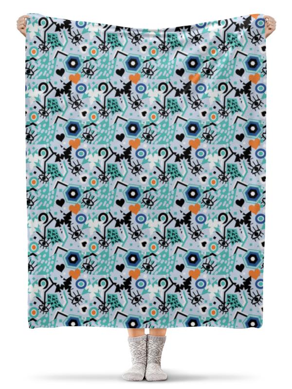Плед флисовый 130х170 см Printio Поп арт дизайн. глаза сердце звезды паттерн (1) юбка карандаш укороченная printio поп арт дизайн глаза сердце звезды паттерн 1