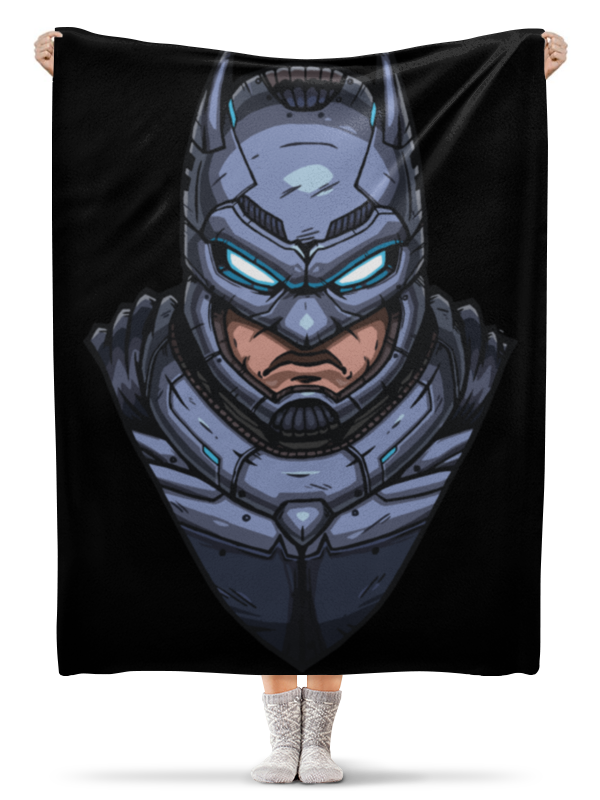 Плед флисовый 130х170 см Printio Armored batman / бэтмен в броне плед флисовый 130х170 см printio batman beyond бэтмен будущего