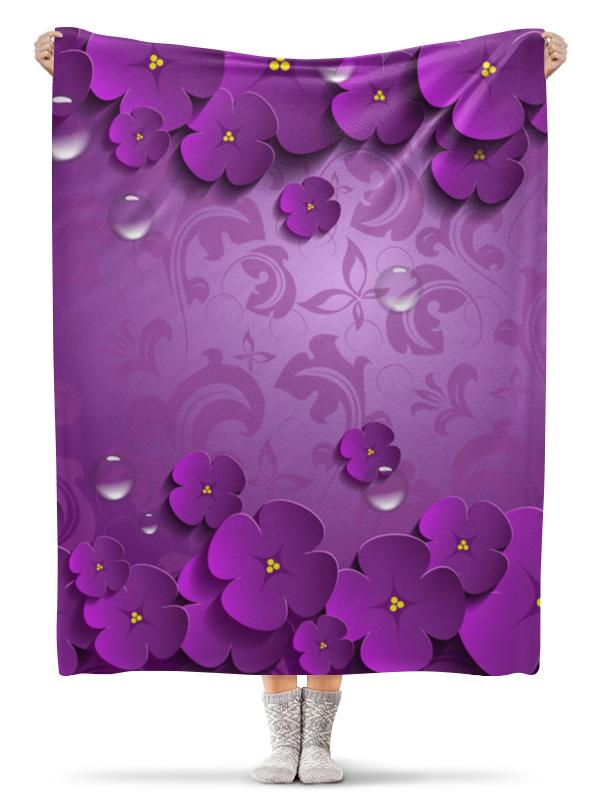 Плед флисовый 130х170 см Printio Цветы