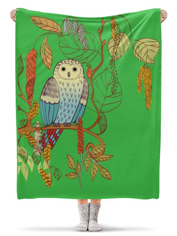 Плед флисовый 130х170 см Printio Сова плед сова и жаворонок шерлок флисовый 150x200