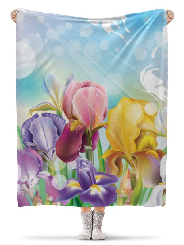Плед флисовый 130х170 см Printio Цветы плед флисовый 130х170 см printio экзотические цветы