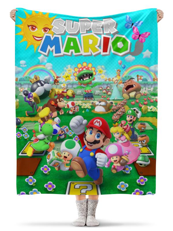 Плед флисовый 130х170 см Printio Super mario. видеоигры плед флисовый 130х170 см printio свин бэтмен