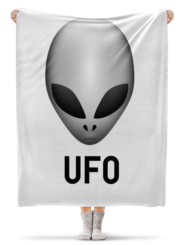 Плед флисовый 130х170 см Printio Пришелец ufo рюкзак с полной запечаткой printio пришелец ufo