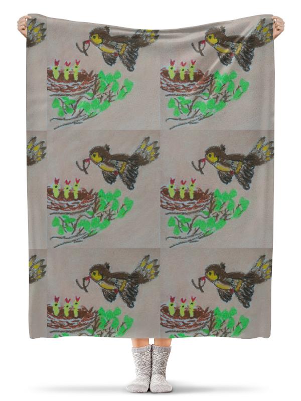 Плед флисовый 130х170 см Printio Птичка