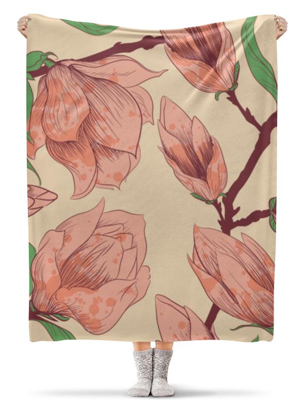 Плед флисовый 130х170 см Printio Нежный цветок плед флисовый 130х170 см printio собачки