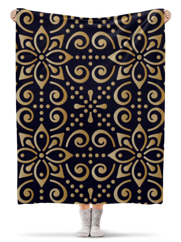 Плед флисовый 130х170 см Printio Цветочное золото плед флисовый 130х170 см printio свин бэтмен