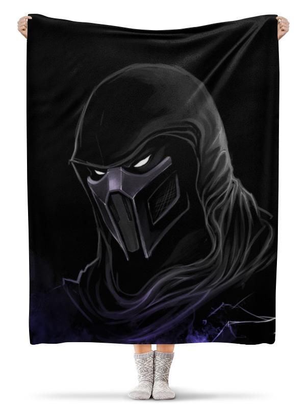 Плед флисовый 130х170 см Printio Mortal kombat (noob saibot)