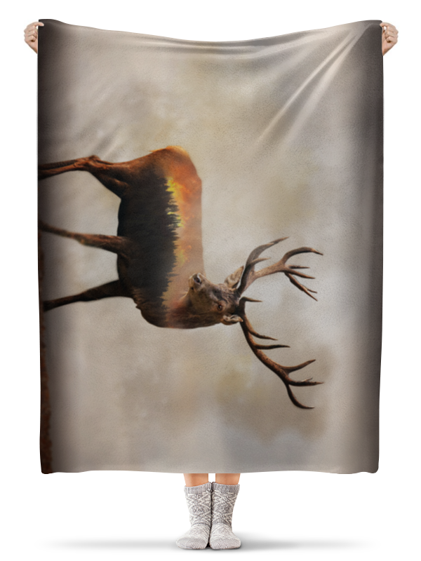 Плед флисовый 130х170 см Printio Лесной олень цена