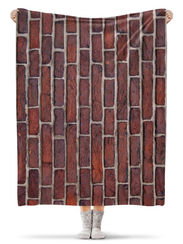 Плед флисовый 130х170 см Printio Кирпичная кладка картрайт п кирпичная кладка уроки мастера