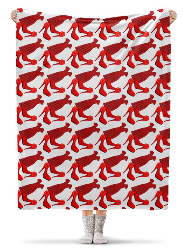 Плед флисовый 130х170 см Printio Бесшовные фактуры, паттерны - стиль, красный