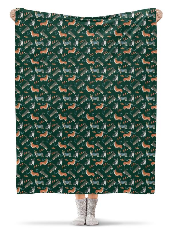 Плед флисовый 130х170 см Printio Лесные жители лесные жители