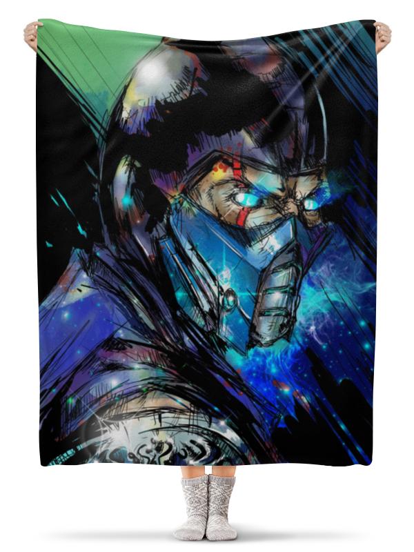 Плед флисовый 130х170 см Printio Mortal kombat x (sub-zero)