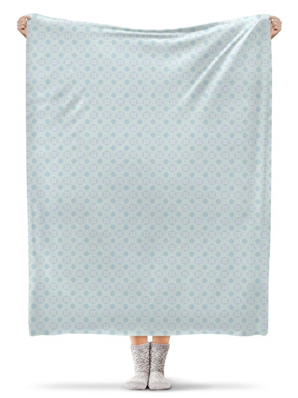 Плед флисовый 130х170 см Printio Голубой узор плед накидка sleepline голубой