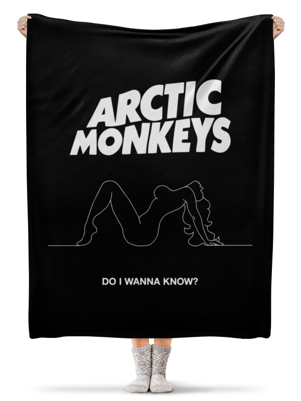 Плед флисовый 130х170 см Printio Arctic monkeys