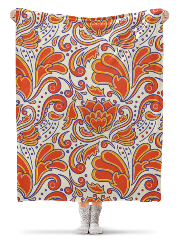 купить Плед флисовый 130х170 см Printio Абстрактный по цене 2100 рублей