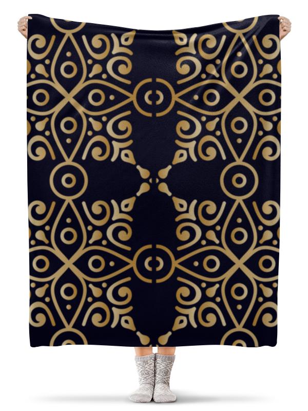Плед флисовый 130х170 см Printio Цветочное золото плед флисовый 130х170 см printio star wars звездные войны