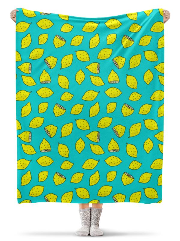 Плед флисовый 130х170 см Printio Лимоны плед сruise welcom