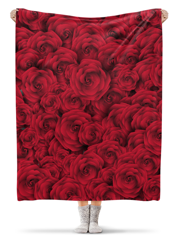 Плед флисовый 130х170 см Printio Розочки цена 2017