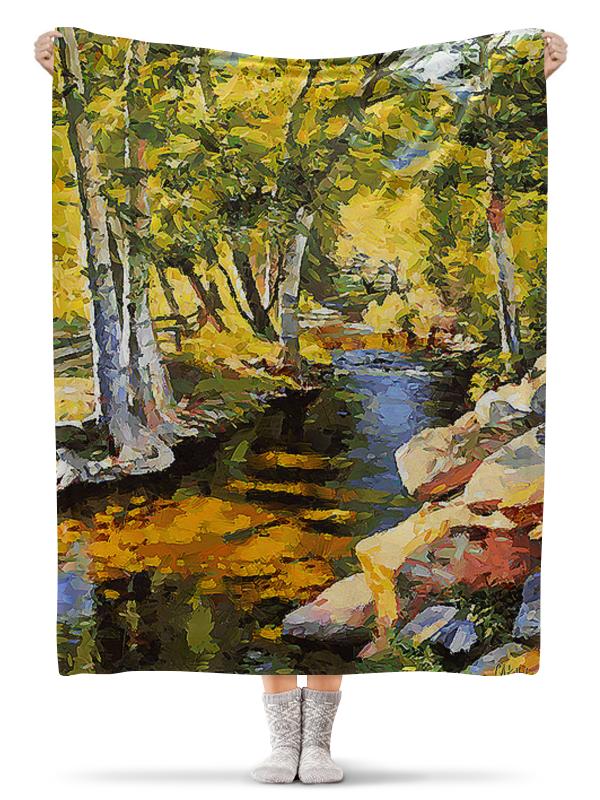 Плед флисовый 130х170 см Printio Весенний пейзаж. живопись масляная живопись yue hao yh0334 7585
