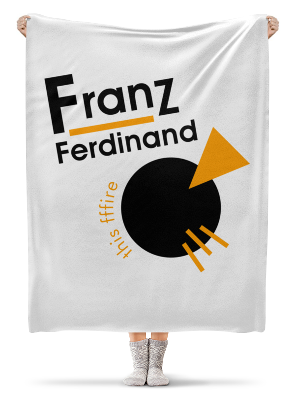 Плед флисовый 130х170 см Printio Franz ferdinand